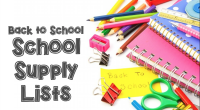 Primary Supplies List Intermediate Supplies List