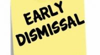 Reminder there is an early dismissal this Friday at 2:15pm.