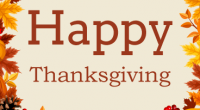 School will be closed on Monday, October 14 for Thanksgiving.